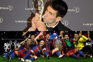 """En """"los Oscar"""" del deporte mundial, Djokovic le ga"""
