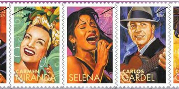 Una estampilla de Carlos Gardel, en el correo de Estados Unidos