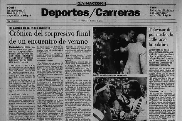 """cuando Independiente """"abandonó"""" frente a Boca"""