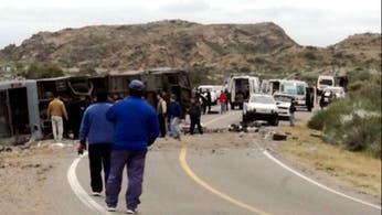 Ascienden a 16 los muertos por el accidente de un micro en Mendoza